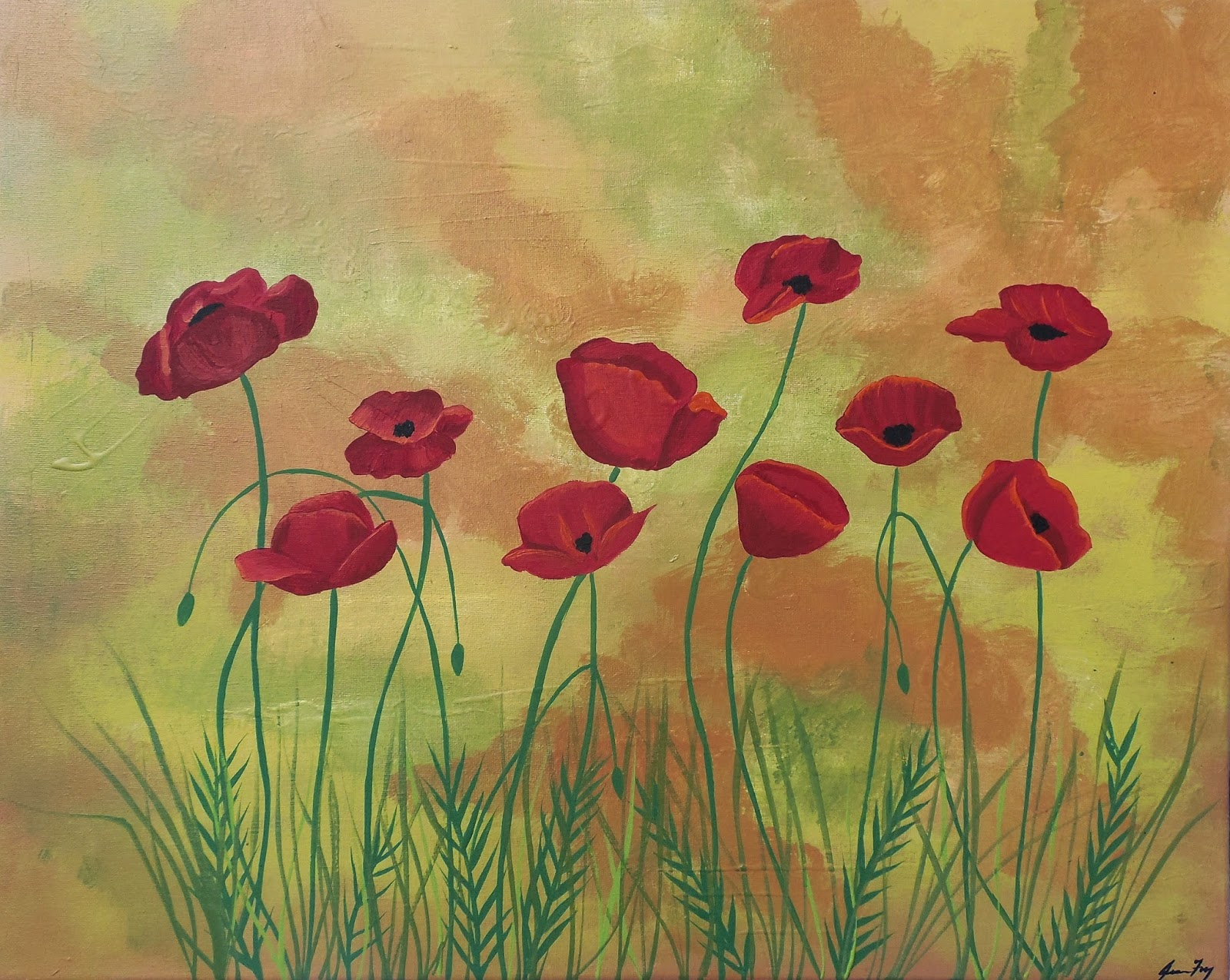 Jeanne Fry Art Red Poppy Flower Symbolism