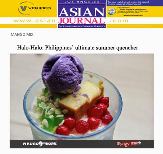 Mango Tours Mango Mix Mix Halo-Halo Philippines ultimate summer quencher