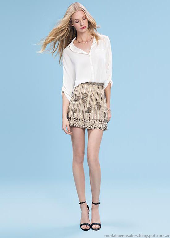 Moda 2016. Basement minifaldas y blusas primavera verano 2016. Moda verano 2016 mujer.