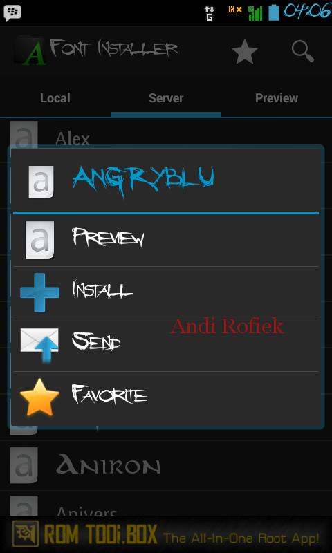 ganti huruf android