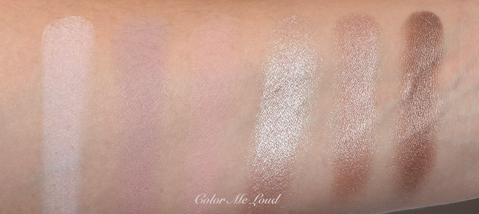 Swatch of Neutrals from Lancôme My Paris Eye Shadow Palette