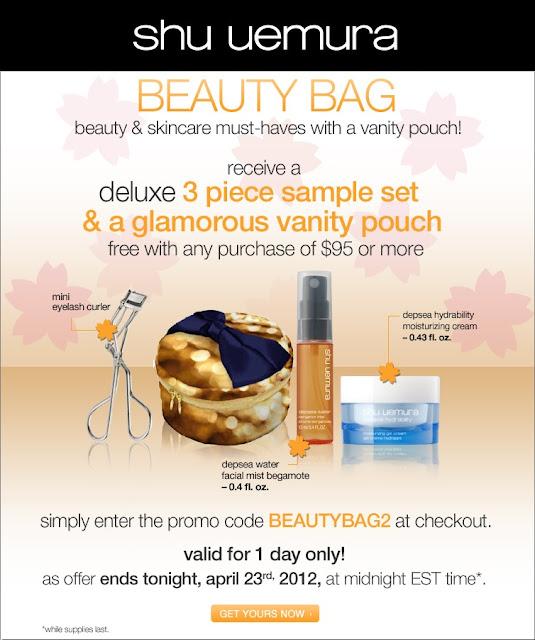 Makeupbyjoyce shu uemura coupon code 2012 free deluxe 4pc beauty bag set free shipping - Houseplanscom discount code set ...