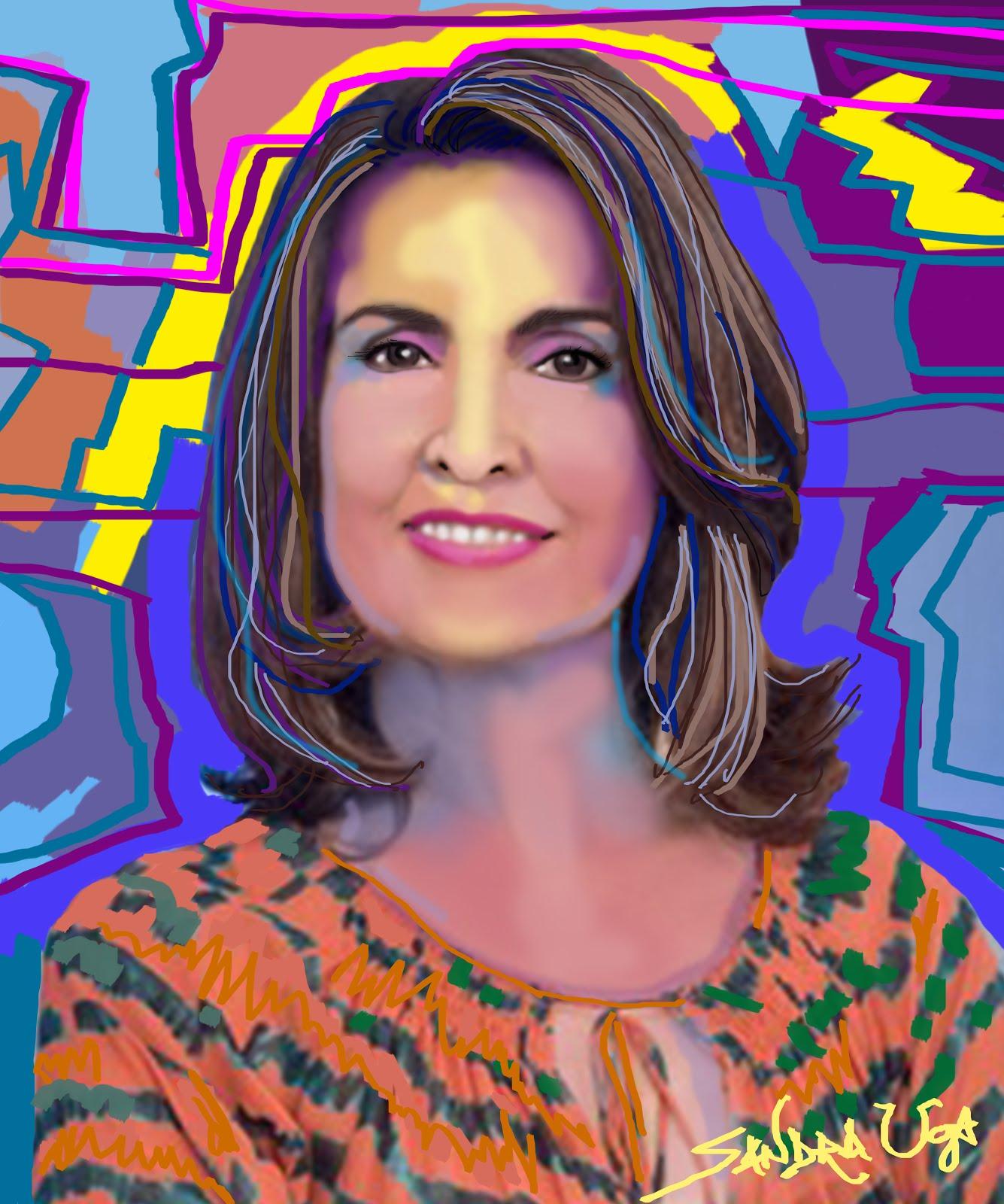 Arte-Retratos de Celebridades by Sandra Uga