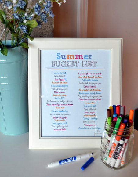 Have fun with this summer bucket list available in our free printables!