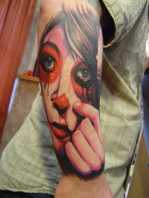 cool high quality pix clown tattoo designs for men and women 2011. Black Bedroom Furniture Sets. Home Design Ideas