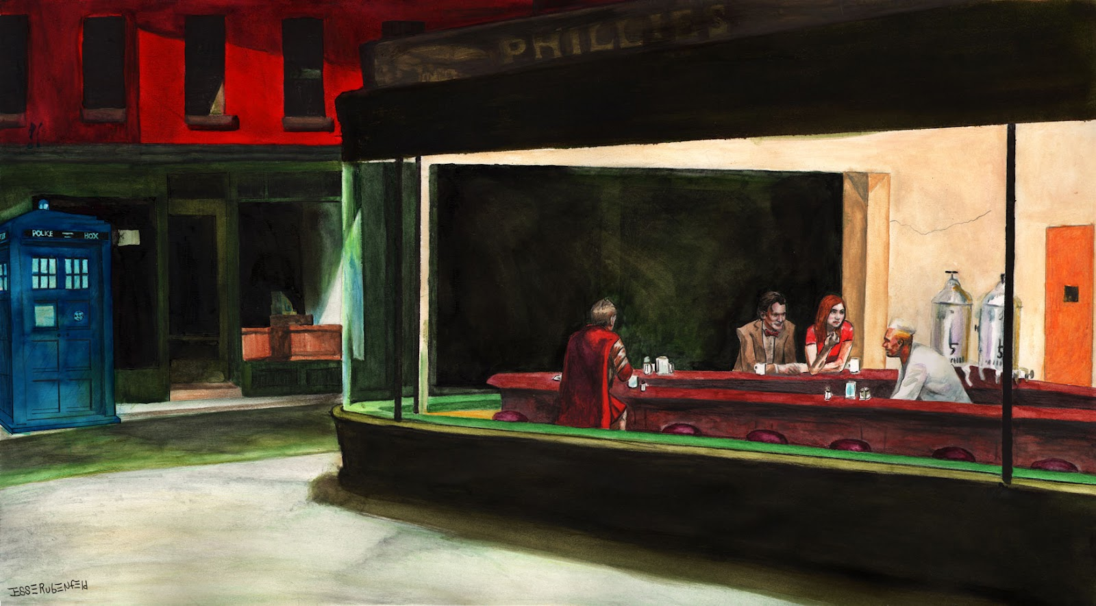 Phillies Cafe Painting