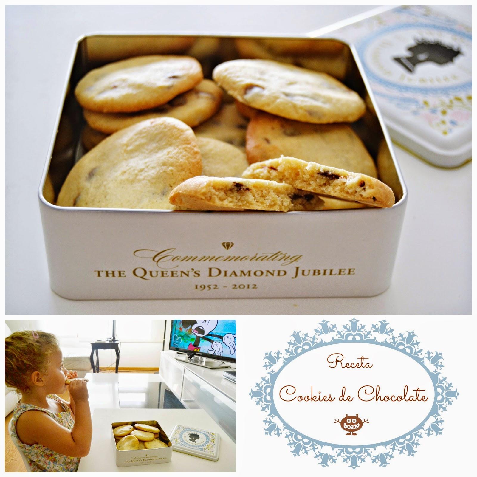 receta cookies de chocolate blog mama de noa cocinar con niños