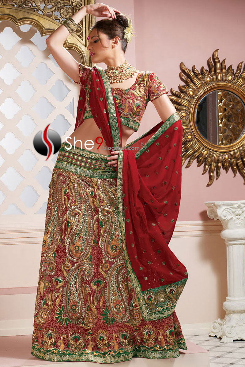 New Fashion Mall Indian Wedding Dresses 2012