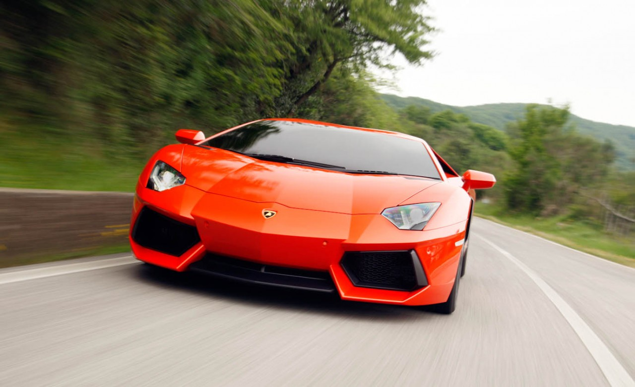 Sports cars lamborghini 2012
