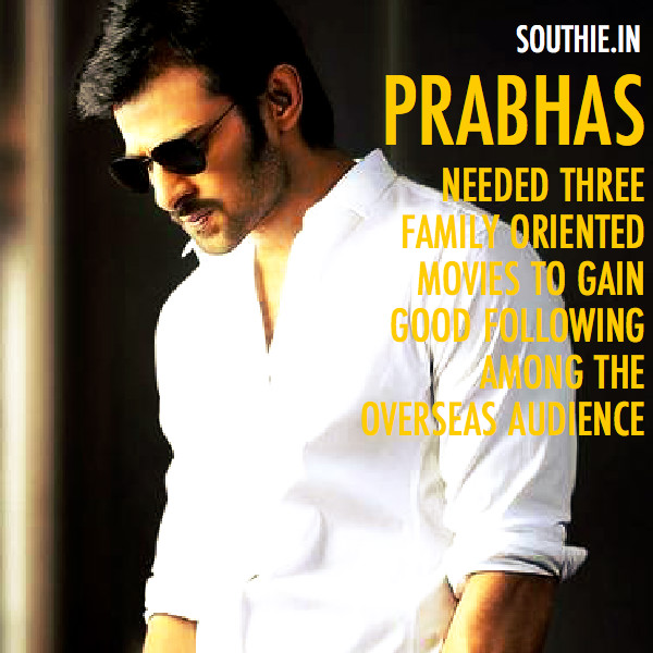 His choice of films have been great and cater to all a sections of the audience, and Baahubali is like icing on the cake for Prabhas.