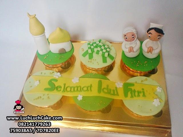 cupcake set tema lebaran untuk parcel