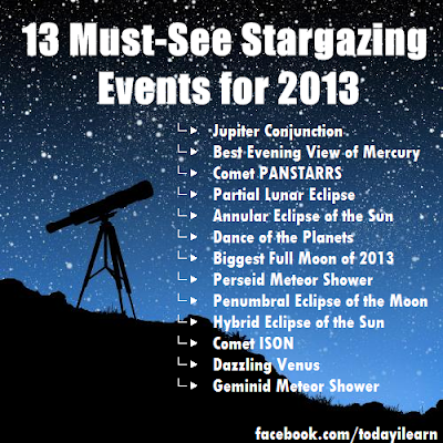 13 Must See Stargazing Events for 2013