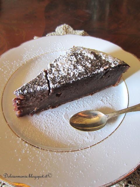 torta di pane con glassa al cacao