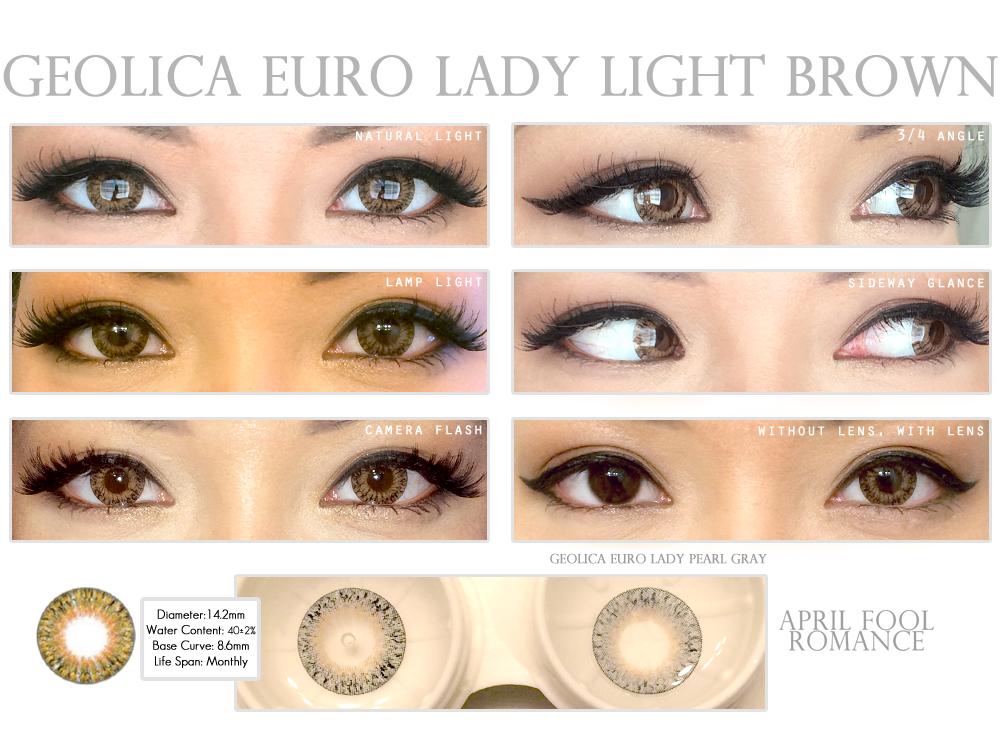 April Fool Romance Geolica Euro Lady Light Brown Circle
