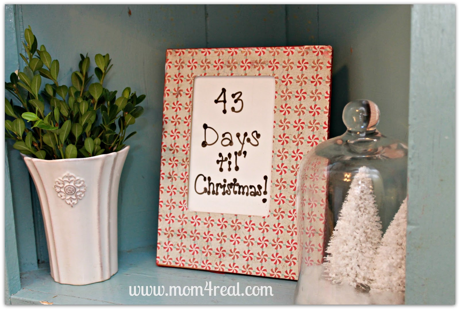 Countdown To Christmas Dry Erase Board - Mom 4 Real
