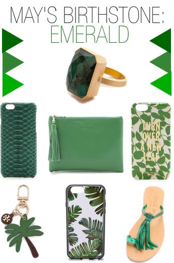 may birthstone - love the emerald!