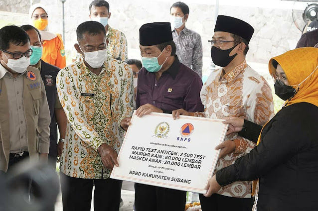 Bupati Subang Terima Bantuan DPRI dan Kemensos