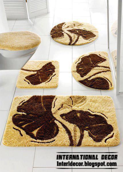 Beige Bathroom Floor Carpet Model, Bathroom Rug Beige Model