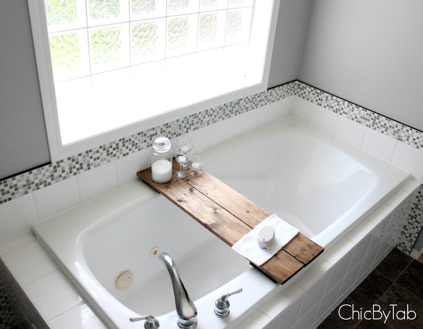ChicByTab}: DIY Bathtub Shelf Made Easy
