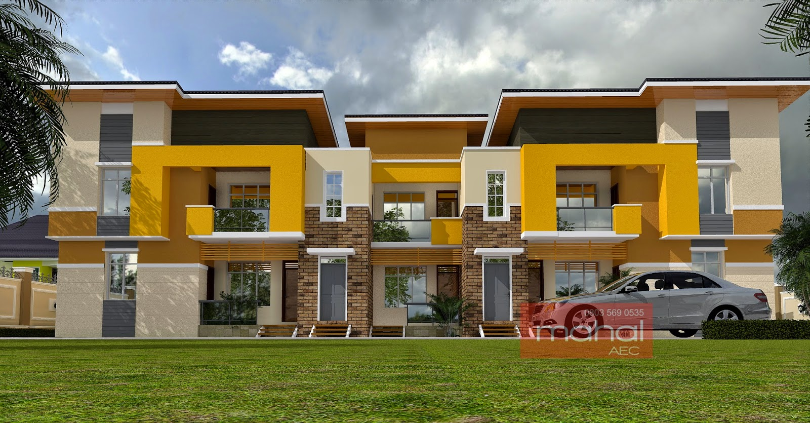 Contemporary nigerian residential architecture for Apartment plans in nigeria