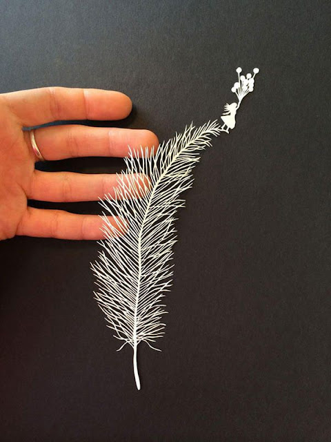 awesome plain paper art by Maude White