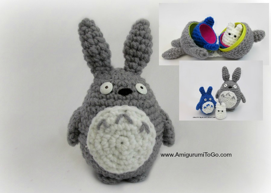 Large Totoro Pattern Three of Three For Stacking Set ...