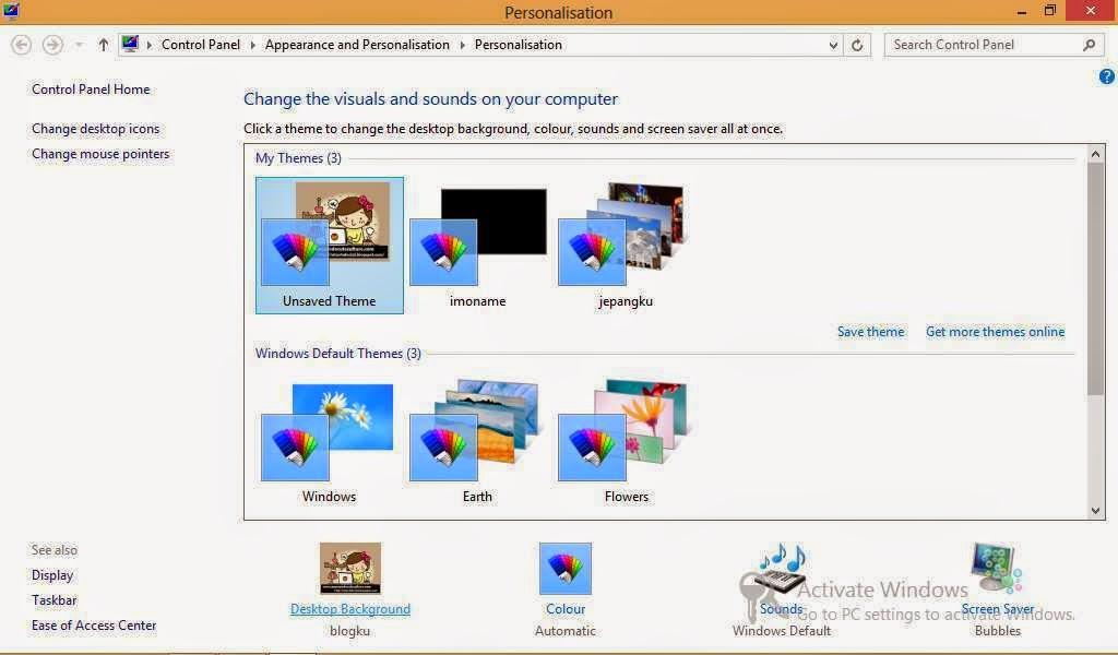 Cara Mengganti Gambar Wallpaper Atau Tema di Windows 8
