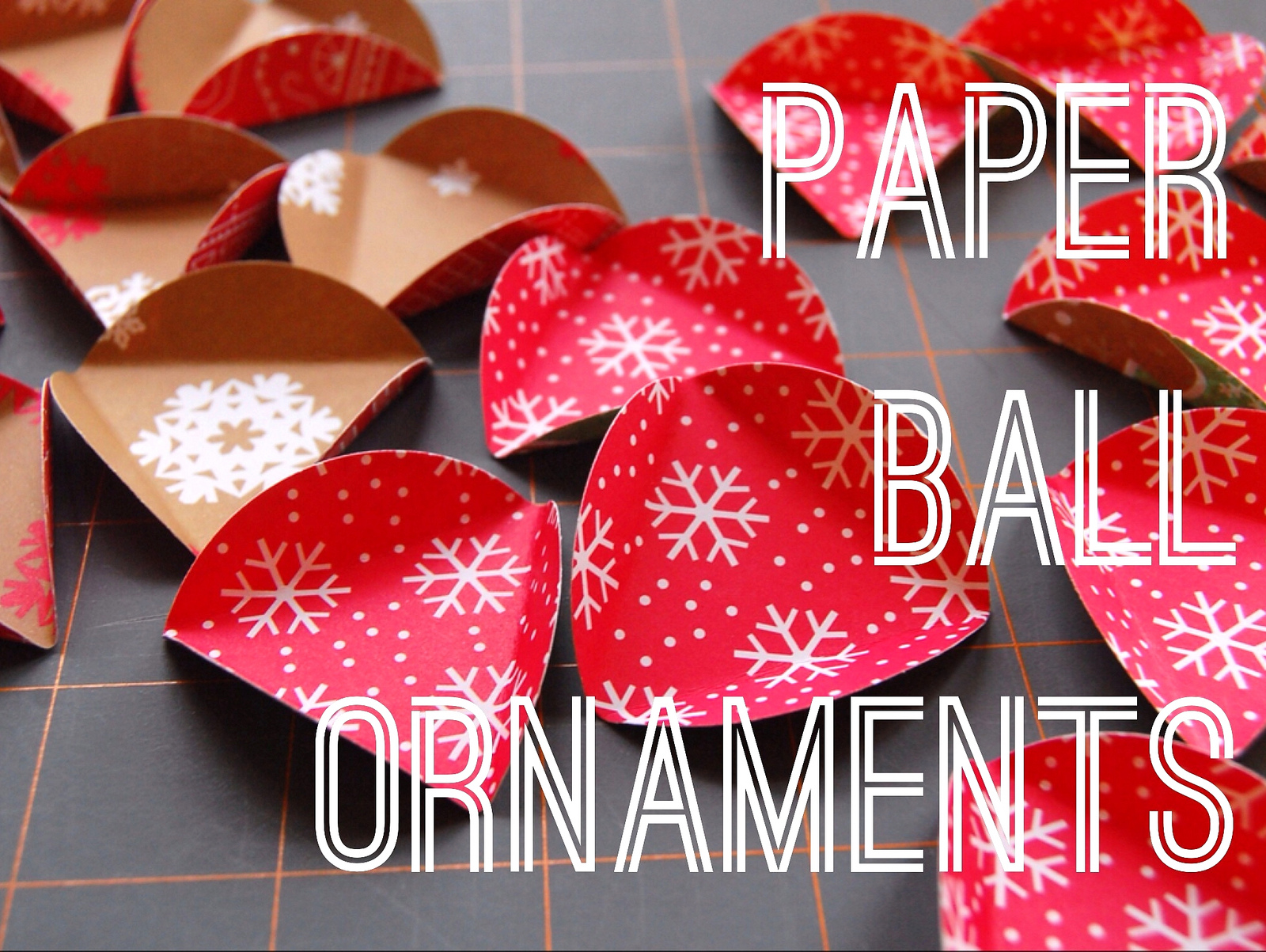 some of my favorite christmas tree ornaments are a set of paper balls ...