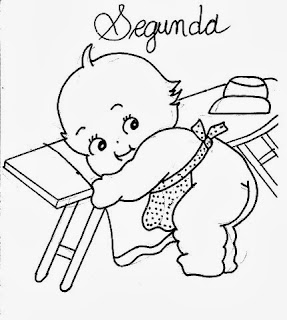 desenho semaninha do bebe para pintar segunda feira
