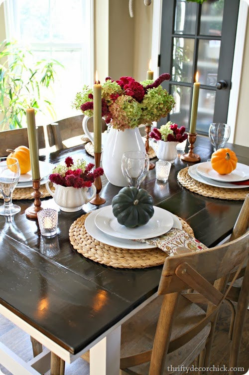 http://thriftydecorchick.blogspot.com/2013/10/simple-autumn-tablescape.html