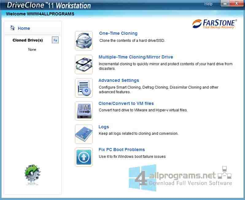 DriveClone Powerful HDD SSD Cloning amp Copy software