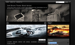 Sky Scrapers Black Blogger Template