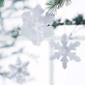 hvit dekor oppheng