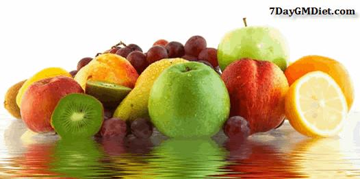 GM Diet Day 1 Fruits List