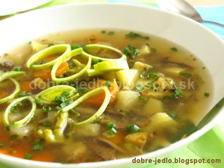 Zeleninová polievka s pohánkou - recepty