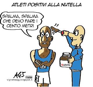 doping, CONI, Nutella, satira vignetta