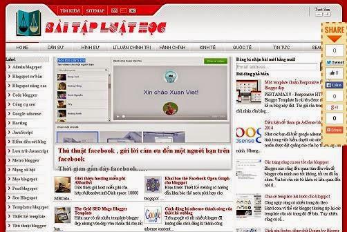 Template Blogspot chia sẻ thủ thuật chuẩn SEO