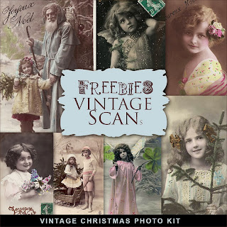 Freebies Vintage Christmas Photo Cards