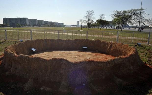 Após ataque, a toca do tatu-bola em Brasília ficou vazia