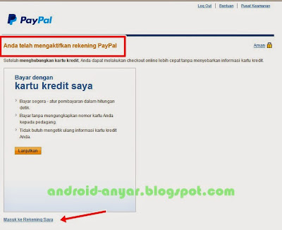 Cara mengaktifkan rekening payPal baru