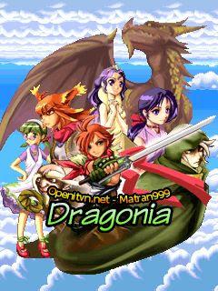 Screenshots of the Dragonia for java mobile, phone.
