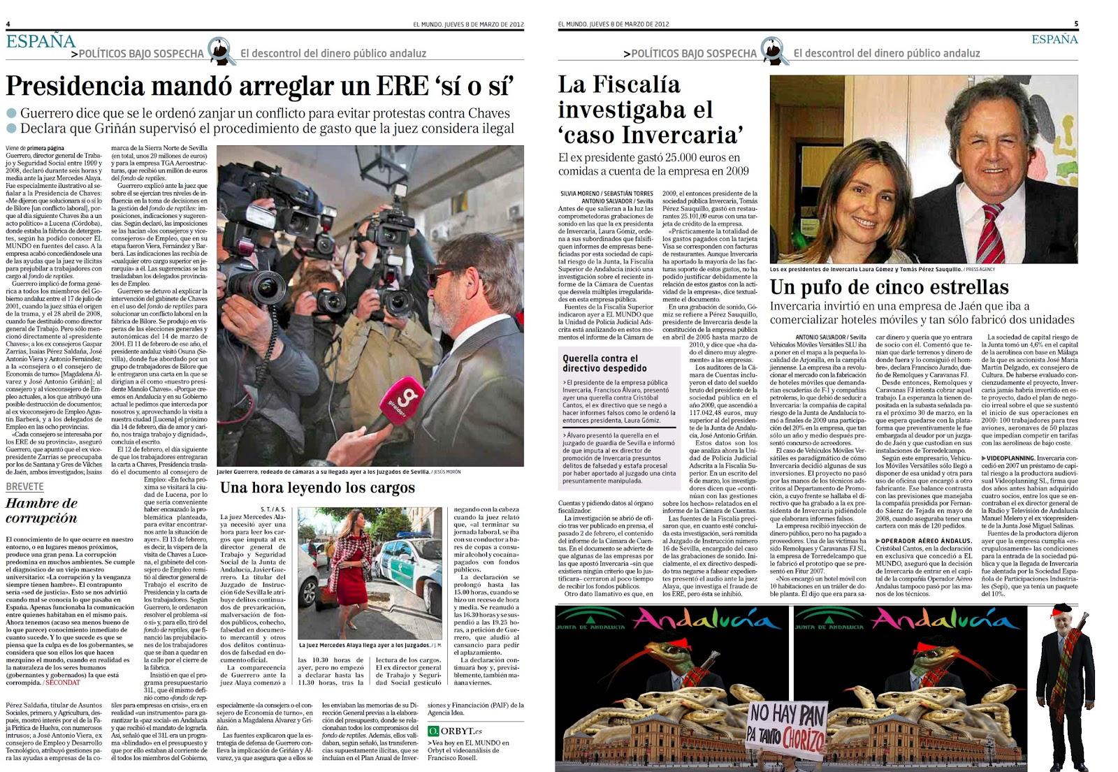 El Palacio de San Telmo, sede de la Junta Socialista de Andalucía es el nido de corrupción donde se perpetran los fondos de reptiles