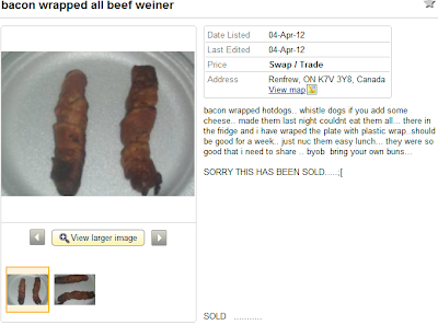 Kijiji bacon wrapped weiner hot dogs