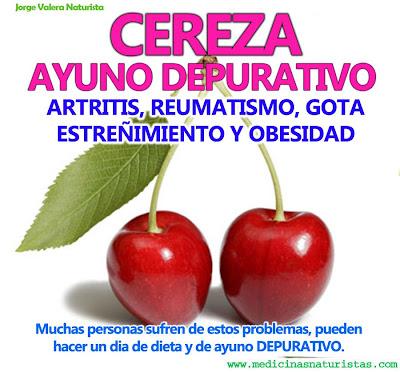 MEDICINA NATURAL: CEREZA, DIA DE AYUNO DEPURATIVO