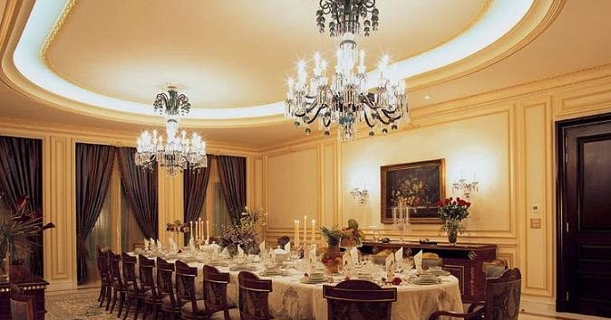 luxury gypsum ceiling designs for large dining room