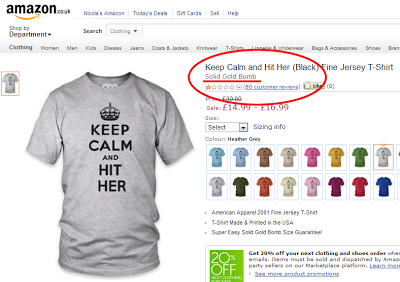 keep calm and hit her, t-shirt, amazon uk
