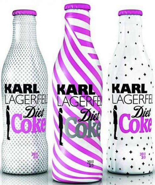 garrafa criada pelo estilista karl lagerfeld para coca cola