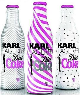 garrafa desenhada por estilista karl lagerfeld para coca-cola