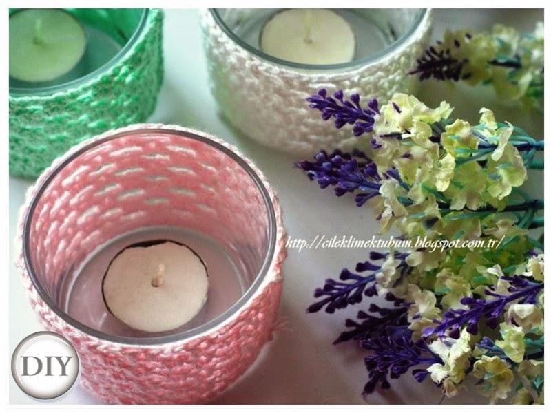 tığ işi, crochet, crochet candle cozy, cadle cozy, örgü, DIY, diy, kendin yap, dekorasyon, mumluk, elişi, handmade, el yapımı, dekorasyon, tığişi, pastel, pastel colors, pastel renkler