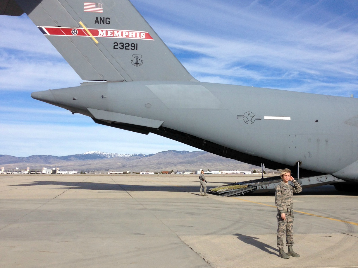 Airforce C-17 Aircraft, Idaho Air National Guard, 124 Fighter Wing